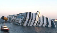 Thousands Evacuated As Cruise Ship Costa Concordia Strikes Reef Off