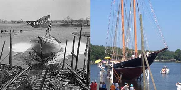 Columbia  1923 launch (left) Columbia 2014 launch (right)